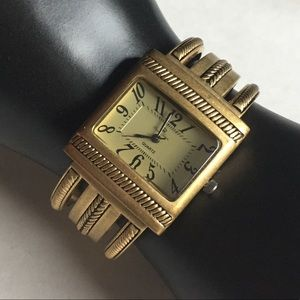 Premier Designs Gold Cairo Cuff Bracelet Watch
